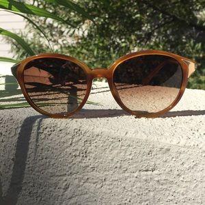 {Chloe} Havana Brown Horn Sunglasses